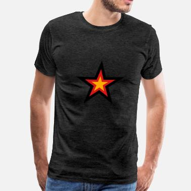 Pauly D star 3 colors germany nation black red gold flag d - Men's Premium T-Shirt
