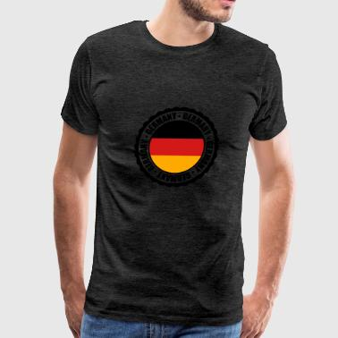 text button round circle stamp 3 colors germany na - Men's Premium T-Shirt