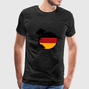 holiday island palms vacation beach sun sea german - Men's Premium T-Shirt