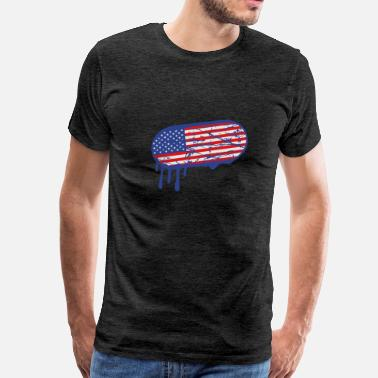 Sticker graffiti stamp drop sticker usa united states amer - Men's Premium T-Shirt