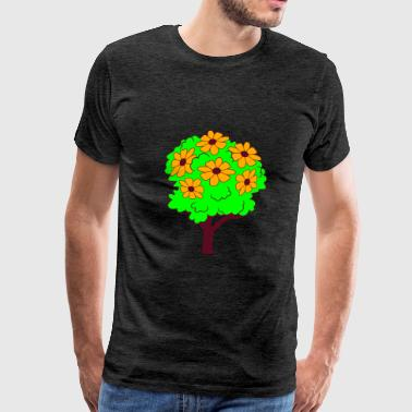 tree small shrub shrub flower blossoms spring pret - Men's Premium T-Shirt