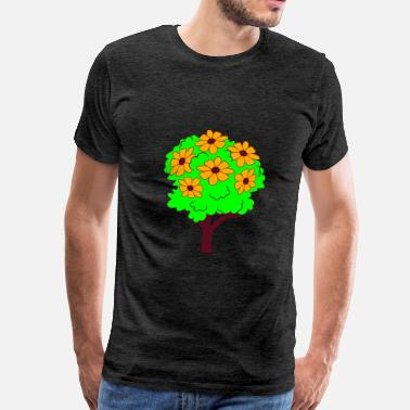 Shrub tree small shrub shrub flower blossoms spring pret - Men's Premium T-Shirt