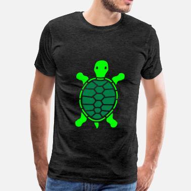 67bb81c1f legs tortoise walking go turtle shell design logo - Men's Premium T-Shirt