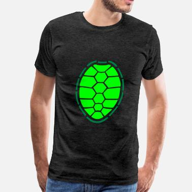 Turtle Shell turtle shell design logo comic cartoon turtle armo - Men's Premium T-Shirt