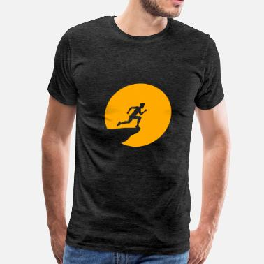 Long Jump design cliff moon night jump suicide suicide sport - Men's Premium T-Shirt