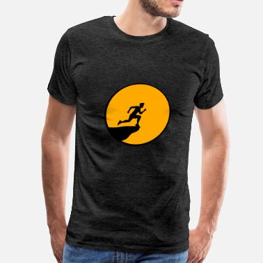 Cliff Jumping cliff moon night jumping suicide suicide sport rac - Men's Premium T-Shirt