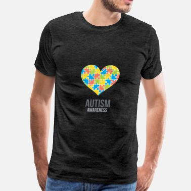 Puzzle autism awareness puzzle heart - Men's Premium T-Shirt