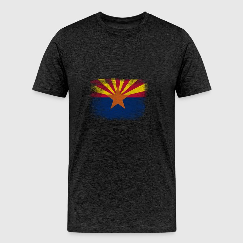 Arizona State Flag Distressed Vintage - Men's Premium T-Shirt