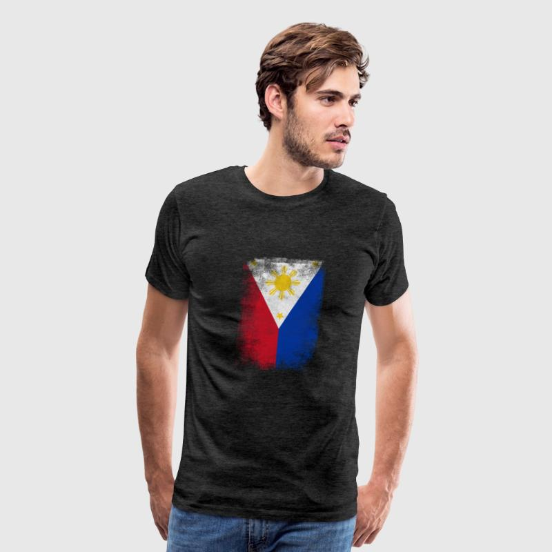 Philippines Flag Proud Filipino Vintage Distressed - Men's Premium T-Shirt