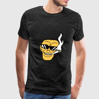 Joint Evil smoke sunglasses hemp weed joint weeds face evil m - Men's Premium T-Shirt
