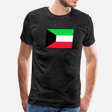 Lead Flag of Kuwait (kw) - Men's Premium T-Shirt