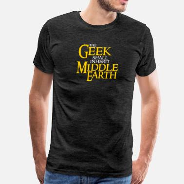 Middlesex Geek Shall Inherit Middle Earth - Men's Premium T-Shirt