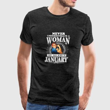 WOMAN BORN IN JANUARY CLOTHING - Men's Premium T-Shirt