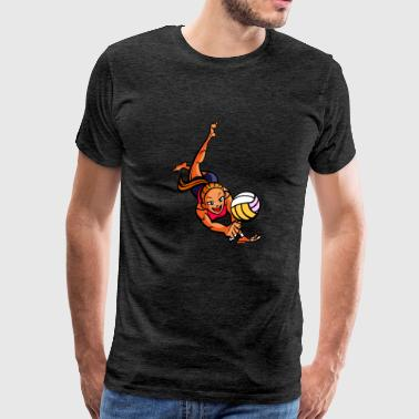 anime volleyball player - Men's Premium T-Shirt