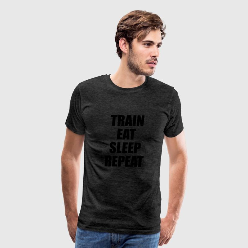 Train Eat Sleep Repeat - Men's Premium T-Shirt