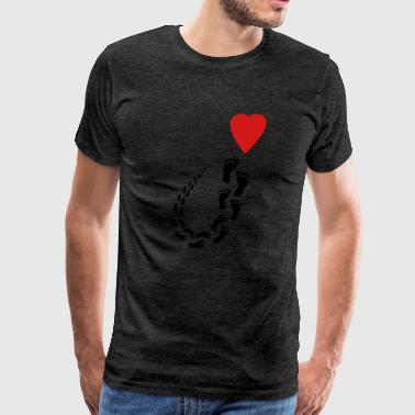 Follow my heart - Men's Premium T-Shirt