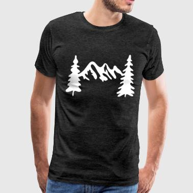 Tree Form Mountain Trees - Men's Premium T-Shirt