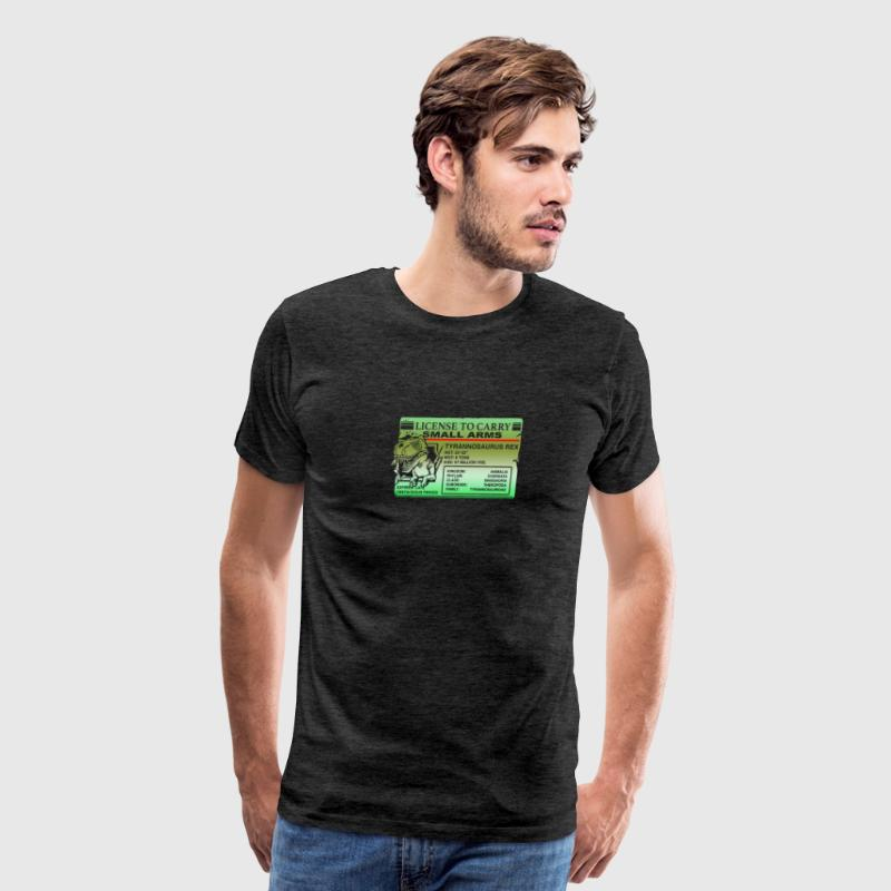 License to carry small Arms T Rex - Men's Premium T-Shirt