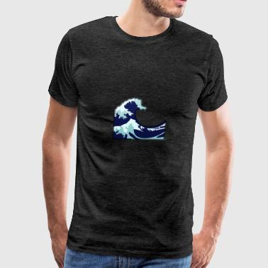 Wave Tsunami Logo - Men's Premium T-Shirt
