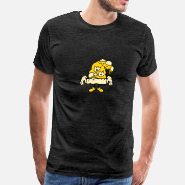 Monster Slimy face head monster slimy mushrooms funghi mushrooms - Men's Premium T-Shirt