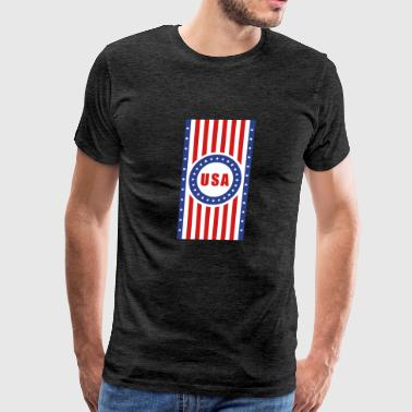 USA Flag Vertical - Men's Premium T-Shirt