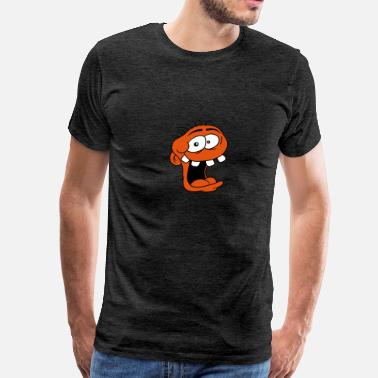 Crazy In The Head head laughing face crazy crazy crazy insane funny  - Men's Premium T-Shirt