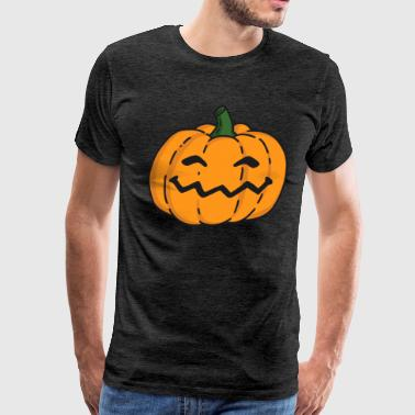 Get Your Irish On Creepy Halloween Grinning Horror Pumpkin for Party - Men's Premium T-Shirt