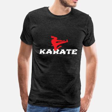 Instructor Workout Karate girl jumping side kick Martial Arts Gift - Men's Premium T-Shirt