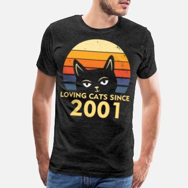 2001 Cat Lover Birthday 2001 Cats Kitty Kitten Gift - Men's Premium T-Shirt