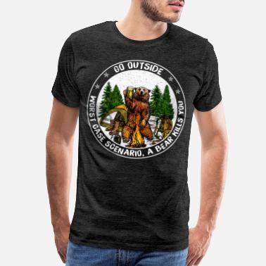 Campfire Camping Hiking Mountain Go Outside Worst Case - Men's Premium T-Shirt