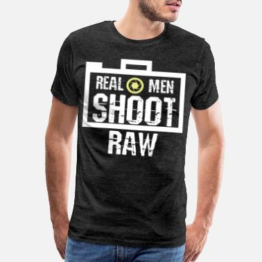 Shoot Raw Cool Real Men Shoot Raw gift - Men's Premium T-Shirt