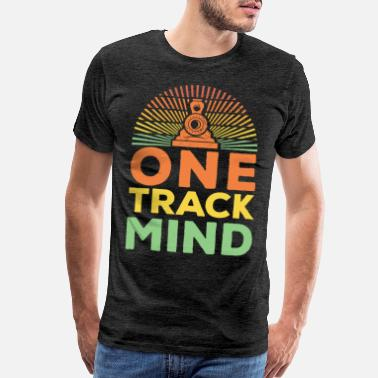 Railway Workers Railway One Track Mind Vintage Artwork - Men's Premium T-Shirt