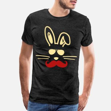 Bunny EASTER - Bunny beard - Men's Premium T-Shirt