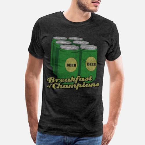 38e4c956a Beer Breakfast of Champions Vintage Men's Premium T-Shirt | Spreadshirt