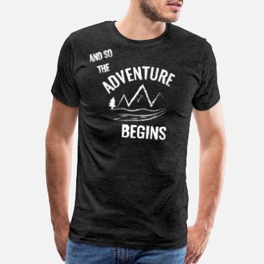Adventur Car Adventure Begins white - Men's Premium T-Shirt