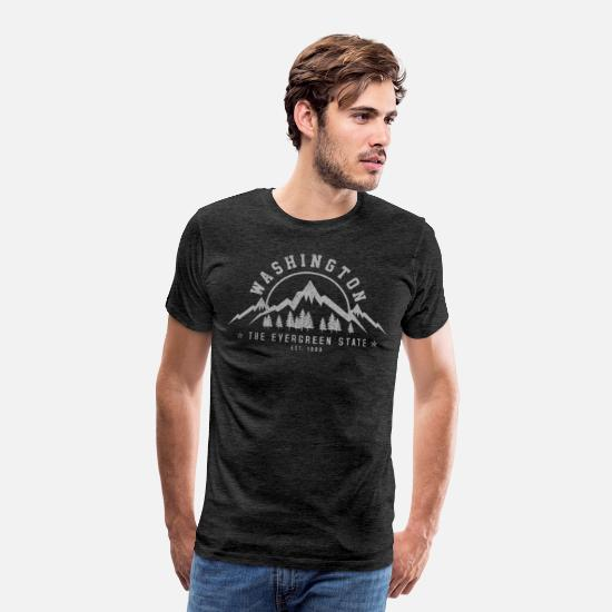 Washington T-Shirts - Washington - The Evergreen State - Men's Premium T-Shirt charcoal gray