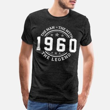 60 Years 1960 The Man The Myth The Legend 60th Birthday - Men's Premium T-Shirt