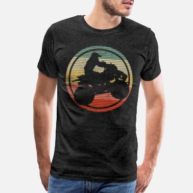 Atv ATV Quad Bike 4 Wheeler Vintage Gift - Men's Premium T-Shirt