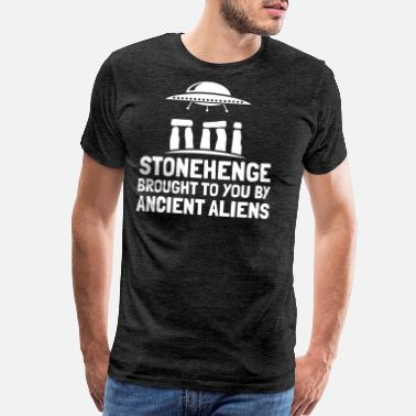 Alien X Stonehenge Brought To You By Ancient Aliens Gift - Men's Premium T-Shirt