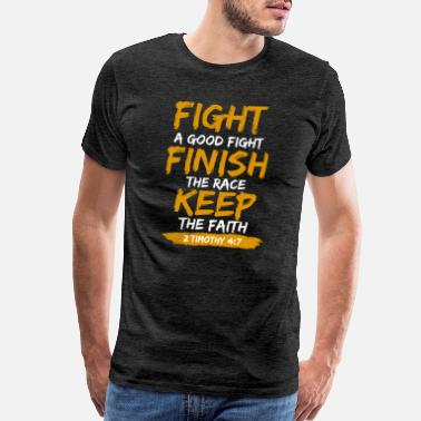 Bible Keep The Faith - Men's Premium T-Shirt