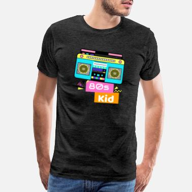 Ghetto Blaster ghetto blaster colorful memory 80's nostalgia - Men's Premium T-Shirt
