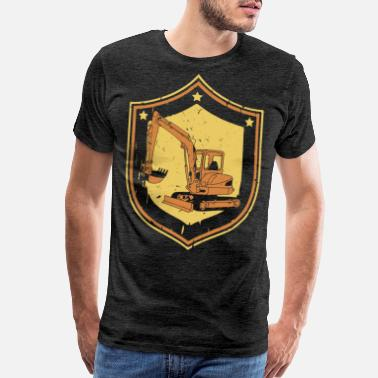 Heavy Equipment Operator EXCAVATOR HEAVY EQUIPMENT OPERATOR DIGGER GIFT JOB - Men's Premium T-Shirt