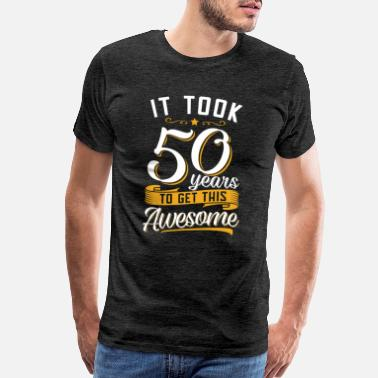 Birthday Awesome 50th birthday tshirt and gift - Men's Premium T-Shirt