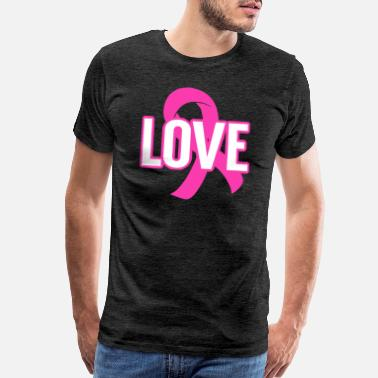 Breast Cancer Support Love Pink Ribbon Cancer Awareness - Men's Premium T-Shirt