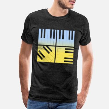 Bass Clef Piano Klavier Tasteninstrument Keys Musik - Men's Premium T-Shirt