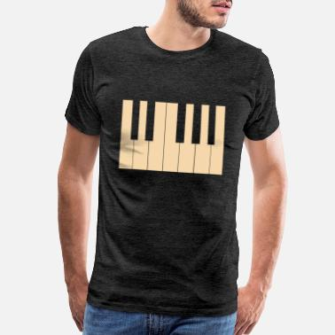 Treble Piano Klavier Tasteninstrument Keys Musik - Men's Premium T-Shirt