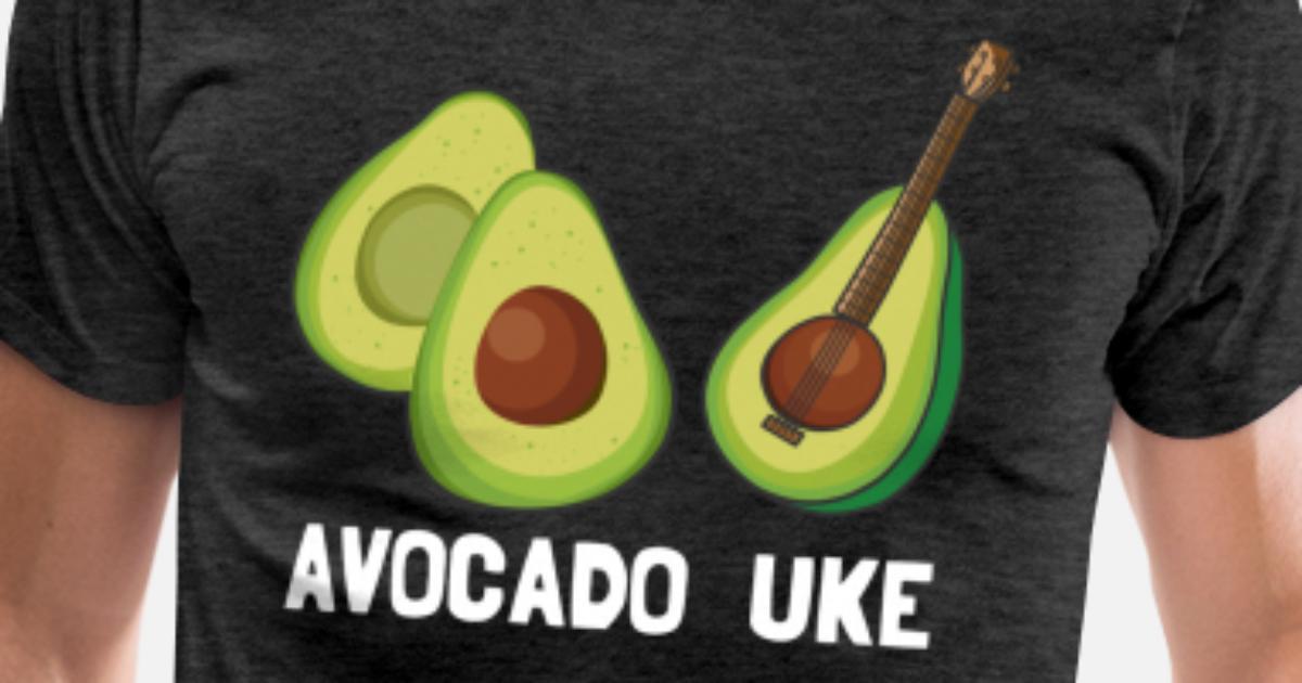 Lustig Avocado Ukulele Musiker Geschenk Men S Premium T Shirt
