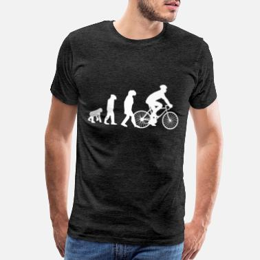 Evolution Mountain Bike Fahrrad Biker Evolution Geschenkidee - Men's Premium T-Shirt