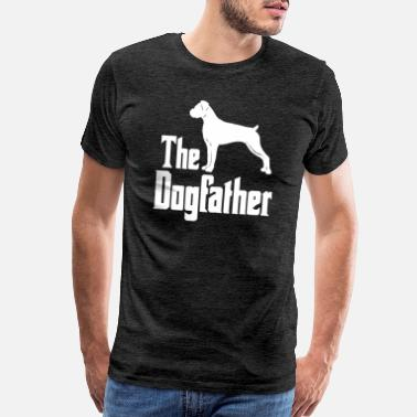 Silhouettes The Dogfather Boxer Dog funny gift idea - Men's Premium T-Shirt