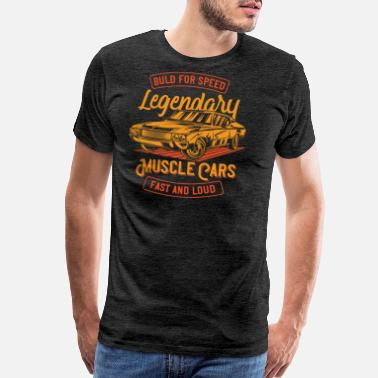 Racing Car 14 muscle car racing - Men's Premium T-Shirt